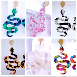 Jewelry - 🦋2/$35🦋NWT Earrings Acrylic Serpent. 6 clchoices